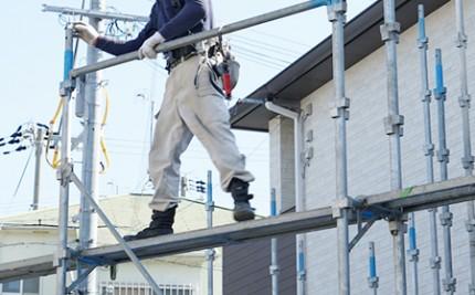 厚生労働省の手すり先行工法に関するガイドラインに準拠した安全性の高い手すり先行式です。